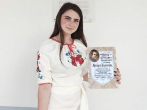 Вітаємо Вікторію Кириченко
